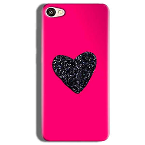 Vivo V5s Mobile Covers Cases Pink Glitter Heart - Lowest Price - Paybydaddy.com