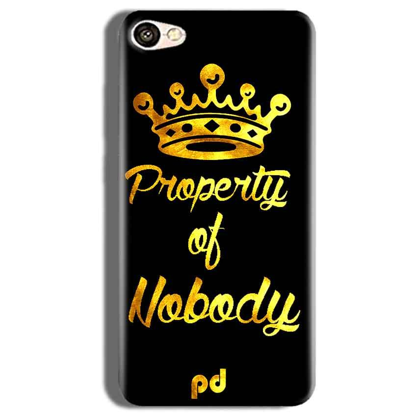 Vivo V5s Mobile Covers Cases Property of nobody with Crown - Lowest Price - Paybydaddy.com