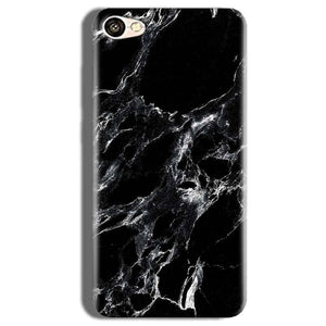 Vivo V5s Mobile Covers Cases Pure Black Marble Texture - Lowest Price - Paybydaddy.com