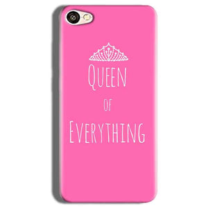 Vivo V5s Mobile Covers Cases Queen Of Everything Pink White - Lowest Price - Paybydaddy.com
