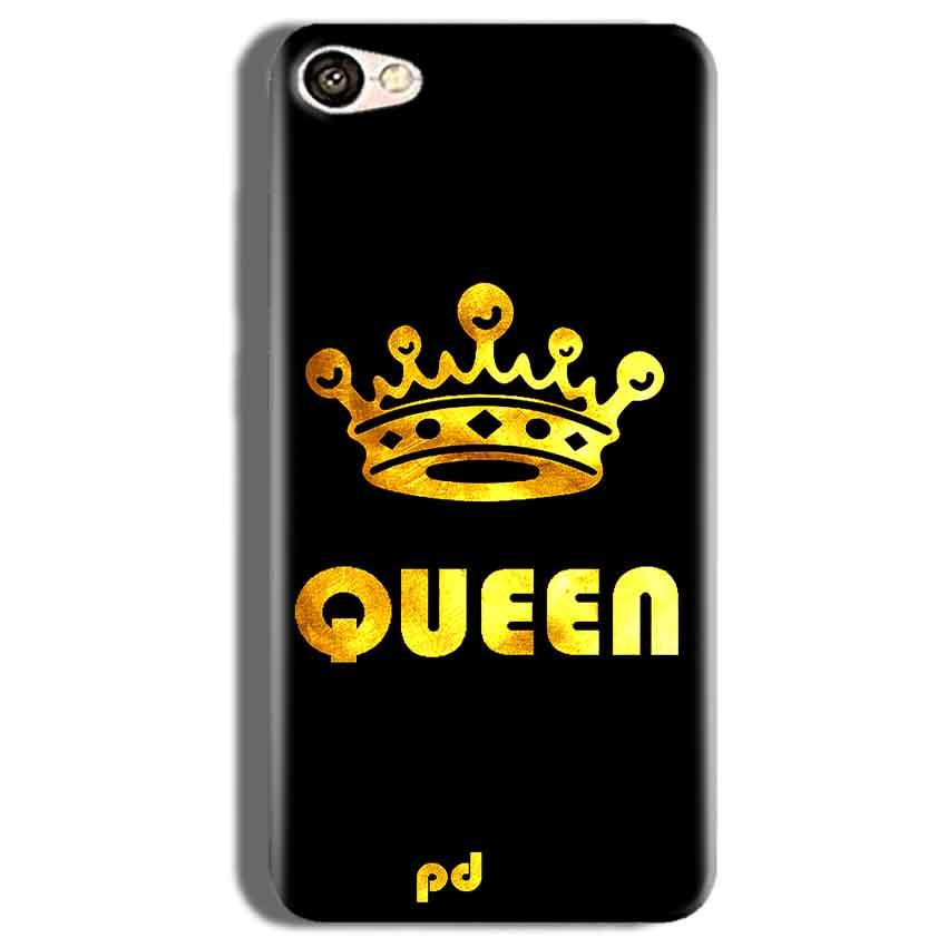 Vivo V5s Mobile Covers Cases Queen With Crown in gold - Lowest Price - Paybydaddy.com