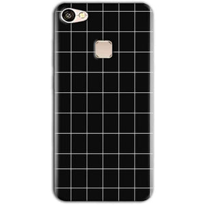 Vivo V7 Mobile Covers Cases Black with White Checks - Lowest Price - Paybydaddy.com