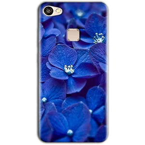 Vivo V7 Mobile Covers Cases Blue flower - Lowest Price - Paybydaddy.com