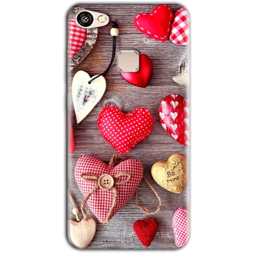 Vivo V7 Mobile Covers Cases Hearts- Lowest Price - Paybydaddy.com