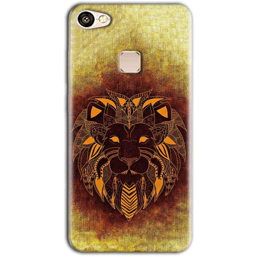 Vivo V7 Mobile Covers Cases Lion face art - Lowest Price - Paybydaddy.com