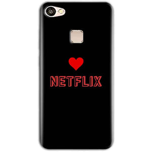 Vivo V7 Mobile Covers Cases NETFLIX WITH HEART - Lowest Price - Paybydaddy.com