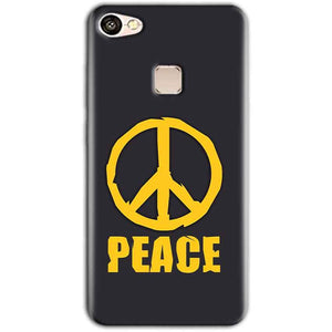 Vivo V7 Mobile Covers Cases Peace Blue Yellow - Lowest Price - Paybydaddy.com