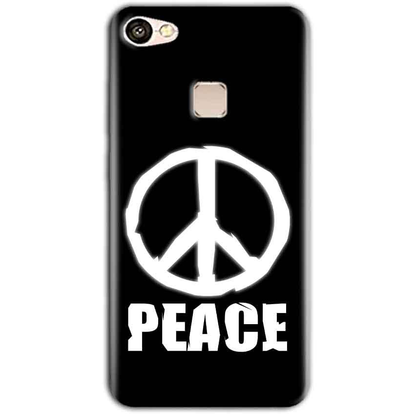 Vivo V7 Mobile Covers Cases Peace Sign In White - Lowest Price - Paybydaddy.com