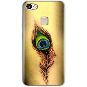 Vivo V7 Mobile Covers Cases Peacock coloured art - Lowest Price - Paybydaddy.com