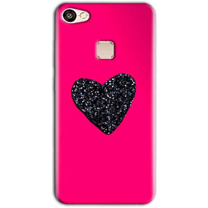 Vivo V7 Mobile Covers Cases Pink Glitter Heart - Lowest Price - Paybydaddy.com