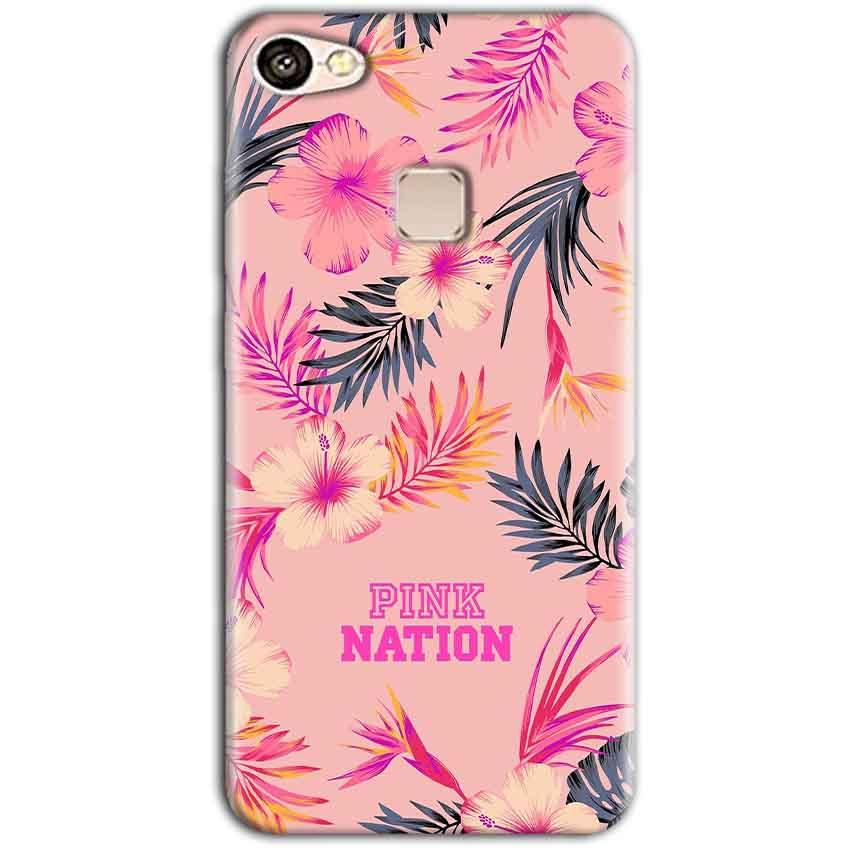 Vivo V7 Mobile Covers Cases Pink nation - Lowest Price - Paybydaddy.com
