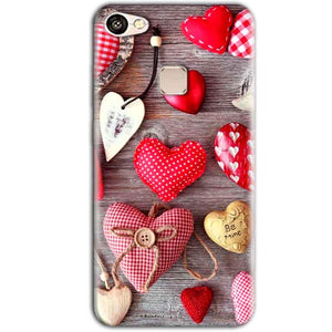 Vivo V7 Plus Mobile Covers Cases Hearts- Lowest Price - Paybydaddy.com