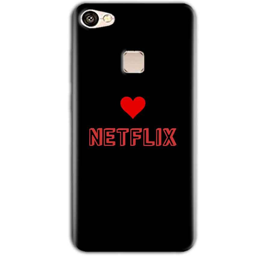 Vivo V7 Plus Mobile Covers Cases NETFLIX WITH HEART - Lowest Price - Paybydaddy.com