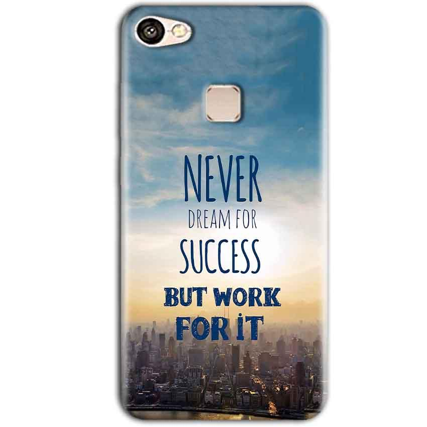 Vivo V7 Plus Mobile Covers Cases Never Dreams For Success But Work For It Quote - Lowest Price - Paybydaddy.com