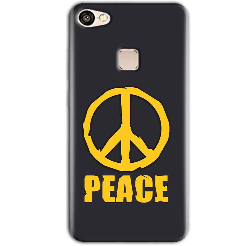 Vivo V7 Plus Mobile Covers Cases Peace Blue Yellow - Lowest Price - Paybydaddy.com