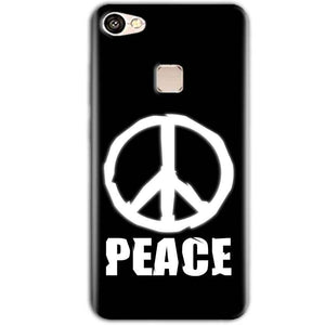 Vivo V7 Plus Mobile Covers Cases Peace Sign In White - Lowest Price - Paybydaddy.com