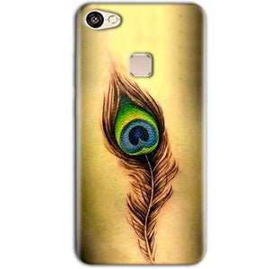 Vivo V7 Plus Mobile Covers Cases Peacock coloured art - Lowest Price - Paybydaddy.com