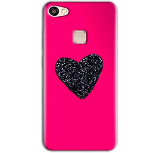 Vivo V7 Plus Mobile Covers Cases Pink Glitter Heart - Lowest Price - Paybydaddy.com