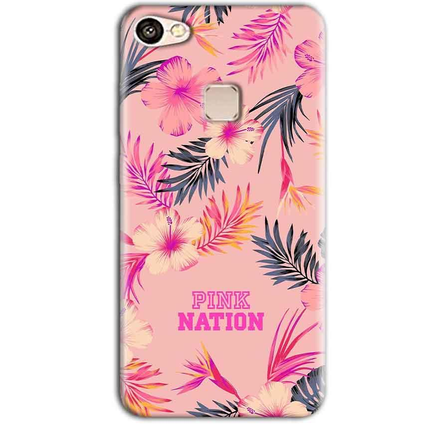 Vivo V7 Plus Mobile Covers Cases Pink nation - Lowest Price - Paybydaddy.com