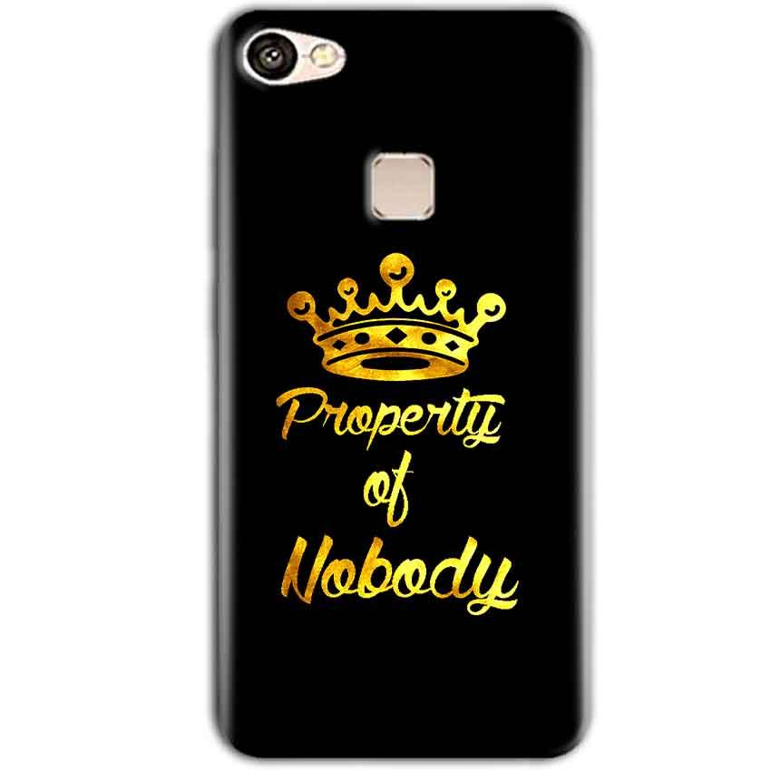 Vivo V7 Plus Mobile Covers Cases Property of nobody with Crown - Lowest Price - Paybydaddy.com