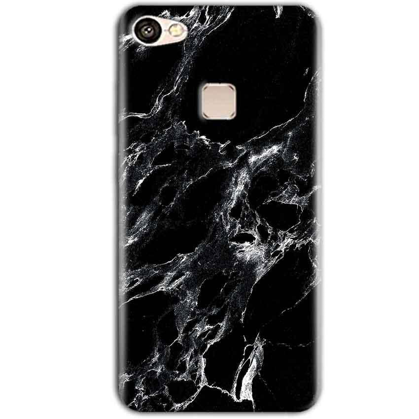 Vivo V7 Plus Mobile Covers Cases Pure Black Marble Texture - Lowest Price - Paybydaddy.com