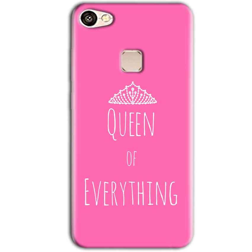 Vivo V7 Plus Mobile Covers Cases Queen Of Everything Pink White - Lowest Price - Paybydaddy.com