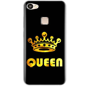 Vivo V7 Plus Mobile Covers Cases Queen With Crown in gold - Lowest Price - Paybydaddy.com