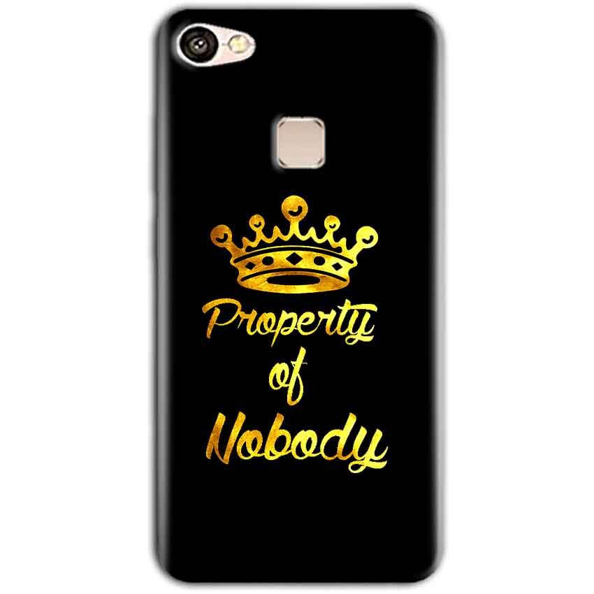 Vivo V7 Mobile Covers Cases Property of nobody with Crown - Lowest Price - Paybydaddy.com
