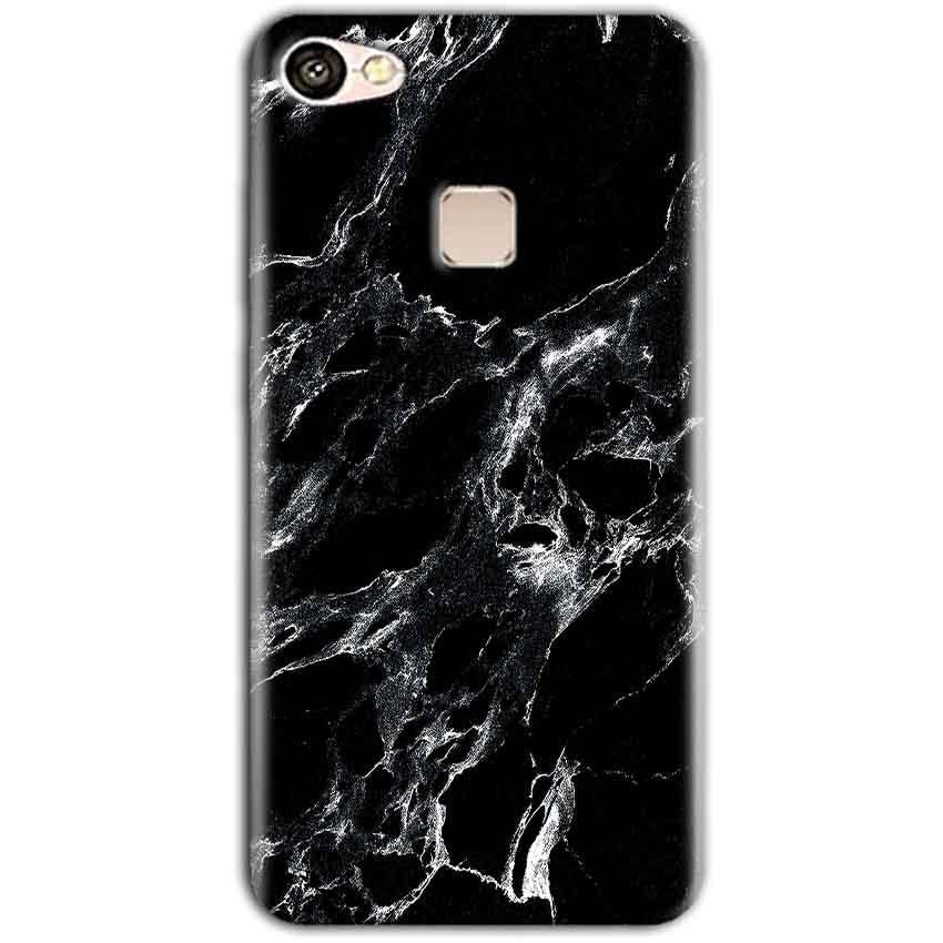Vivo V7 Mobile Covers Cases Pure Black Marble Texture - Lowest Price - Paybydaddy.com