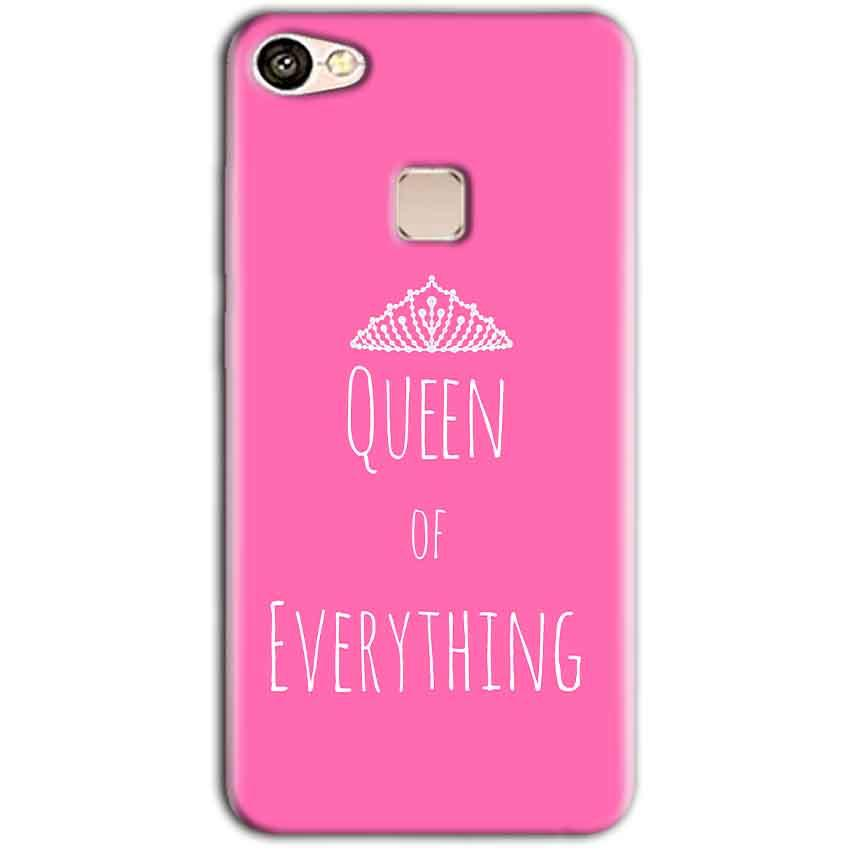 Vivo V7 Mobile Covers Cases Queen Of Everything Pink White - Lowest Price - Paybydaddy.com
