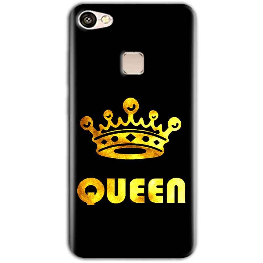 Vivo V7 Mobile Covers Cases Queen With Crown in gold - Lowest Price - Paybydaddy.com