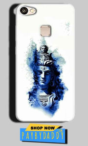 Vivo V7 Mobile Covers Cases Shiva Blue White - Lowest Price - Paybydaddy.com