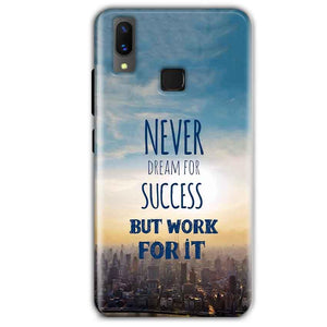 Vivo X21 Mobile Covers Cases Never Dreams For Success But Work For It Quote - Lowest Price - Paybydaddy.com