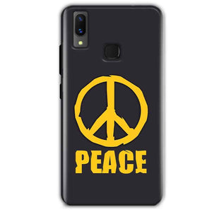 Vivo X21 Mobile Covers Cases Peace Blue Yellow - Lowest Price - Paybydaddy.com