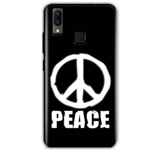 Vivo X21 Mobile Covers Cases Peace Sign In White - Lowest Price - Paybydaddy.com