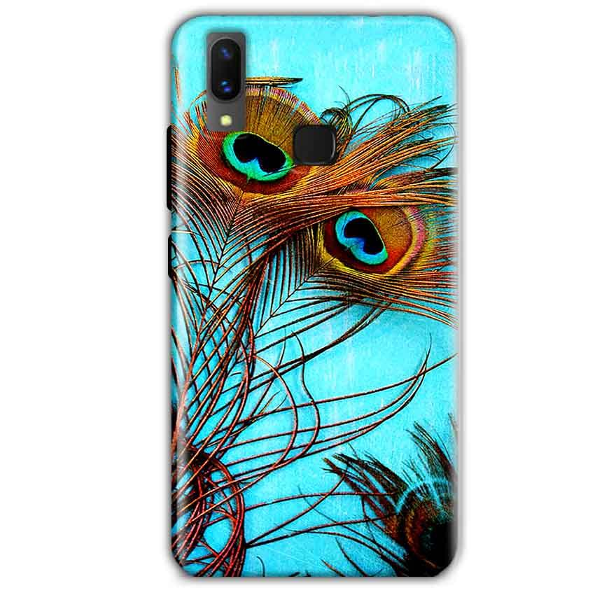 Vivo X21 Mobile Covers Cases Peacock blue wings - Lowest Price - Paybydaddy.com