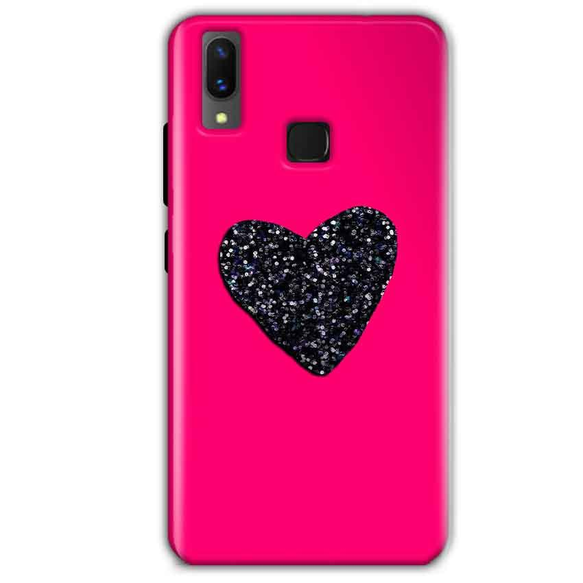Vivo X21 Mobile Covers Cases Pink Glitter Heart - Lowest Price - Paybydaddy.com