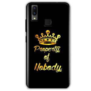 Vivo X21 Mobile Covers Cases Property of nobody with Crown - Lowest Price - Paybydaddy.com
