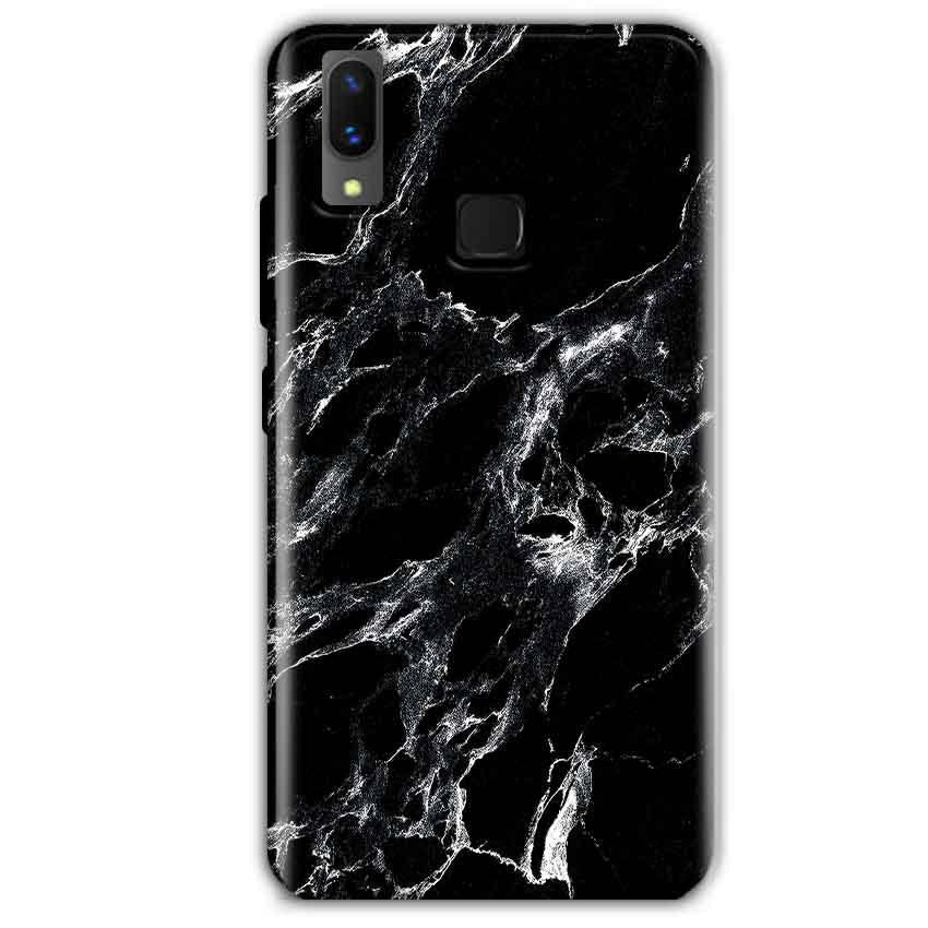 Vivo X21 Mobile Covers Cases Pure Black Marble Texture - Lowest Price - Paybydaddy.com