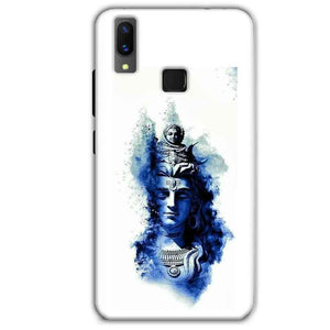 Vivo X21 Mobile Covers Cases Shiva Blue White - Lowest Price - Paybydaddy.com