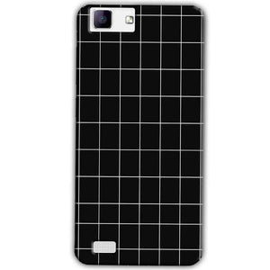 Vivo X5Max Mobile Covers Cases Black with White Checks - Lowest Price - Paybydaddy.com