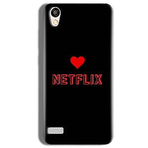Vivo Y11 Mobile Covers Cases NETFLIX WITH HEART - Lowest Price - Paybydaddy.com