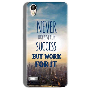 Vivo Y11 Mobile Covers Cases Never Dreams For Success But Work For It Quote - Lowest Price - Paybydaddy.com