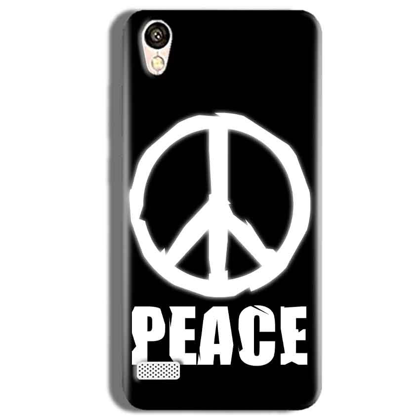 Vivo Y11 Mobile Covers Cases Peace Sign In White - Lowest Price - Paybydaddy.com