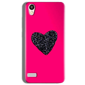 Vivo Y11 Mobile Covers Cases Pink Glitter Heart - Lowest Price - Paybydaddy.com