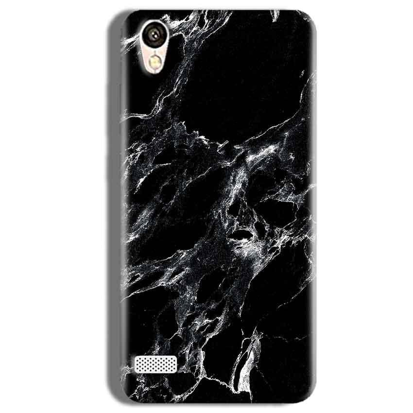 Vivo Y11 Mobile Covers Cases Pure Black Marble Texture - Lowest Price - Paybydaddy.com