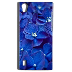Vivo Y15 Mobile Covers Cases Blue flower - Lowest Price - Paybydaddy.com