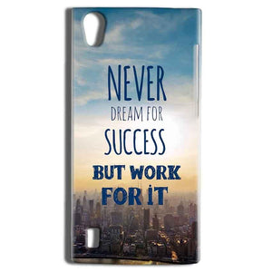 Vivo Y15 Mobile Covers Cases Never Dreams For Success But Work For It Quote - Lowest Price - Paybydaddy.com