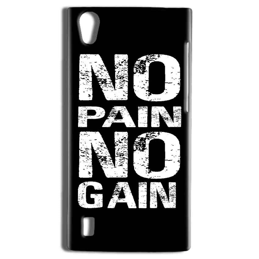Vivo Y15 Mobile Covers Cases No Pain No Gain Black And White - Lowest Price - Paybydaddy.com