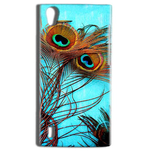 Vivo Y15 Mobile Covers Cases Peacock blue wings - Lowest Price - Paybydaddy.com